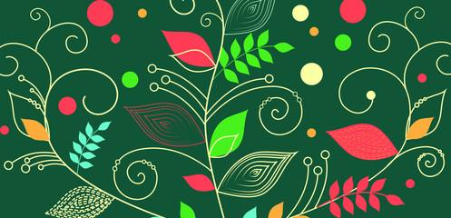 bright colorful decorativ pattern