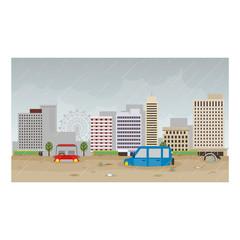 洪水の都市