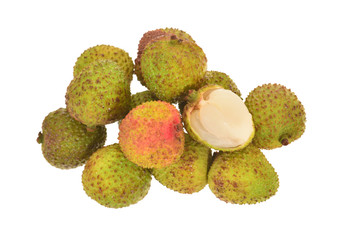Fresh Lychee Isolated On White Background