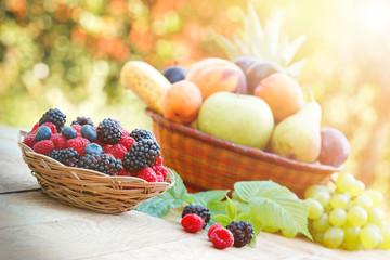 Variety of fresh seasonal fruit
