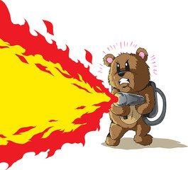 Flamethrower Bear