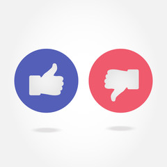Like and dislike symbol.