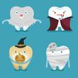 Halloween concept of teeth set - 68531633