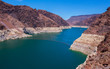 canvas print picture - Hoover Dam Water Reservoir