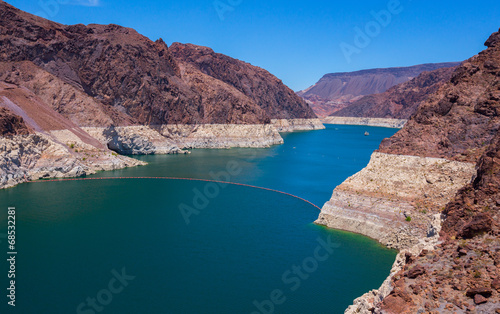 canvas print picture Hoover Dam Water Reservoir