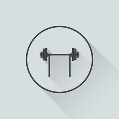 Illustration of barbell flat icon