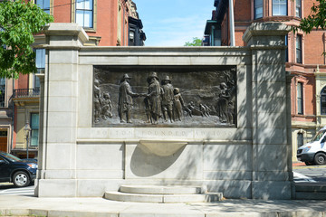 Founders Memorial on the Common in Boston, USA