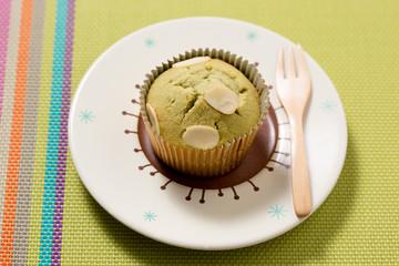 White Chocolate Green Tea Muffin