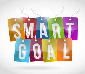 smart goal tags illustration design