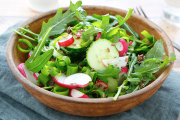 salad with fresh vegetables rustic