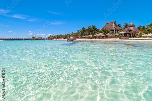 Foto op Plexiglas Eiland tropical sea and beach in Isla Mujeres, Mexico