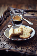 Shortbread and a Glass of Coffee