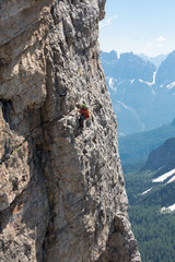 Rescue in the mountain of Dolomites