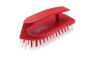 red plastic brush
