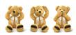 Teddy bears see hear speak no evil - 68534289
