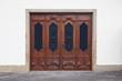 canvas print picture - alten geschnitzten Türen