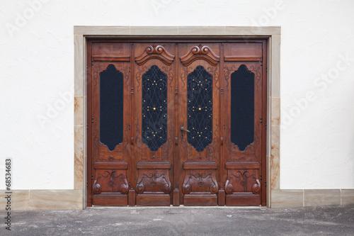 canvas print picture alten geschnitzten Türen