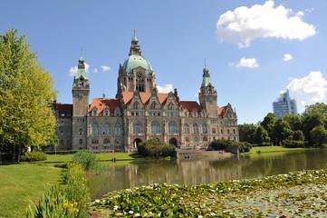 Neues Rathaus Hannover, Maschteich, Niedersachsen, Hannover