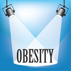 Concept of Obesity being in the spotlight