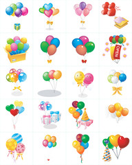 Icons party vector