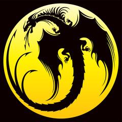 Dragoon tattoo isolated