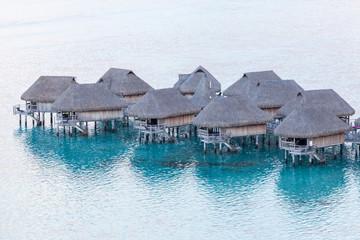 French Polynesia, moorea overwater bungalows