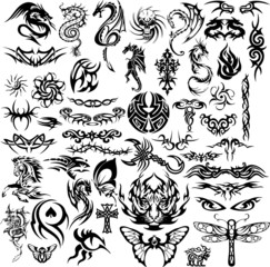 Set tattoo vectors