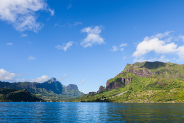 Moorea island view from the ocean