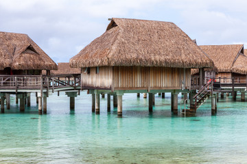 Over water bungalow, Moorea. French Polinesia