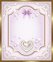 romantic postcard Birthday