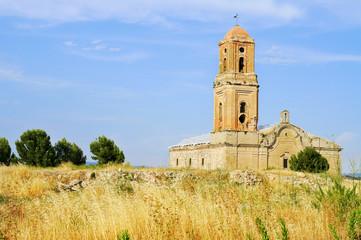 Sant Pere Church in Poble Vell de Corbera d'Ebre in Spain