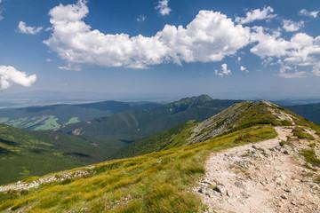 View from the mountain ridge, West Tatras, Slovakia