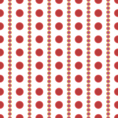 Abstract seamless pattern of pink and red circles