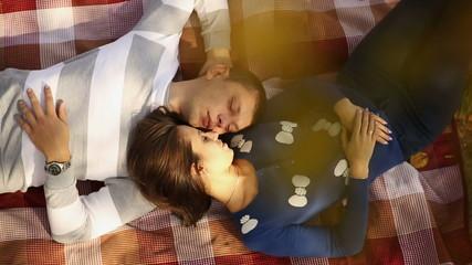 Couple Lying Under autumn Tree 2
