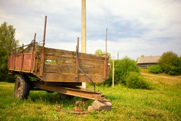 Old rusty adaptations for work in the village