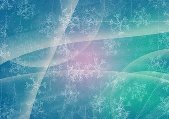 snowflakes grunge background for winter design