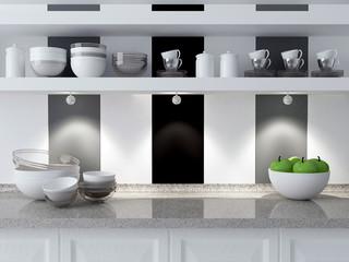 Modern kitchen design.
