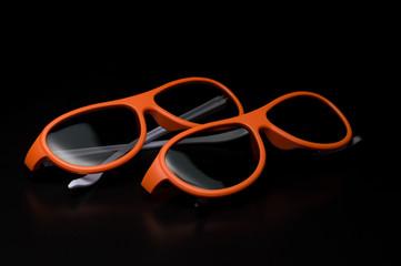 3D Glasses on black background