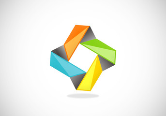 geometry abstract square vector logo