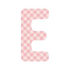 Pink squares pattern alphabet E