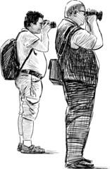 tourists photographers