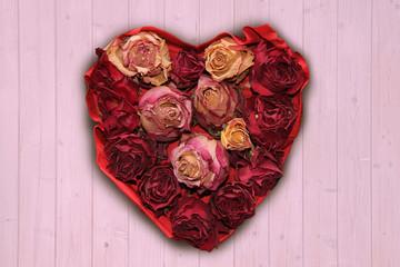romantisches Rosenherz