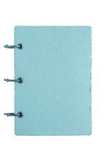 notebook with a cover from fabric of blue color