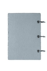 notebook with a cover from fabric of silvery color