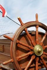 Steering wheel of a sailing ship