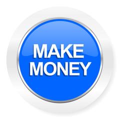 make money blue glossy web icon