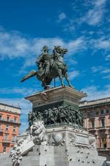 Vittorio Emanuele monument in the center of Milan, Italy