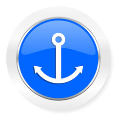 anchor blue glossy web icon