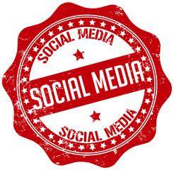 red socia media stamp