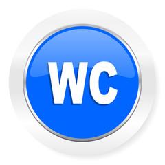 toilet blue glossy web icon